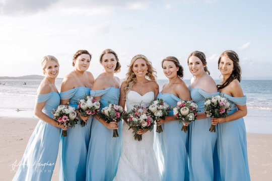 beautiful beach wedding noosa
